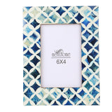Handmade Blue Mosaic Star Art Picture Photo Frame | 6X4