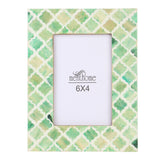 Green Picture Photo Frame Damask Moroccan Art Wall Decor | 6x4