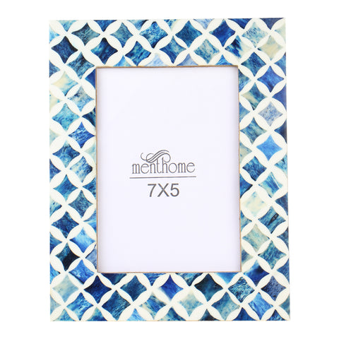 Handmade Blue Mosaic Star Art Picture Photo Frame | 7X5