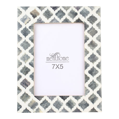 Handmade Damask Moroccan Art Gray Picture Photo | 7X5