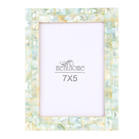Handmade Chic Mother of Pearl Green Pearl Picture Frames | 7x5