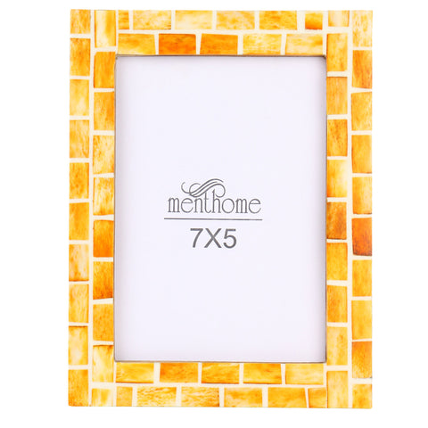 Handmade Orange Mosaic Art Picture Photo Frame | 7x5