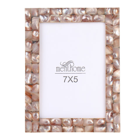 Handmade Chic Mother of Pearl Black Pearl Picture Photo Frame | 7x5