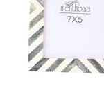 Gray Picture Photo Frame Chevron Herringbone Art Wall Decor | 6X4