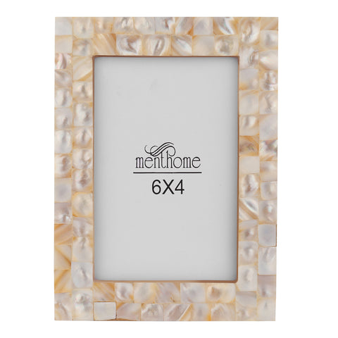 Handmade Mother of Pearl White Pearl Picture Photo Frame | 6X4