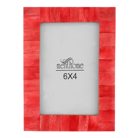 Handmade Red Bone Photo Picture Vintage Chic Frame | 6x4