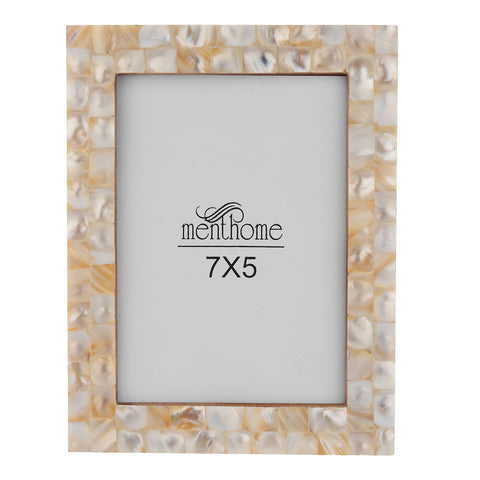 Handmade Mother of Pearl White Pearl Picture Photo Frame | 7X5