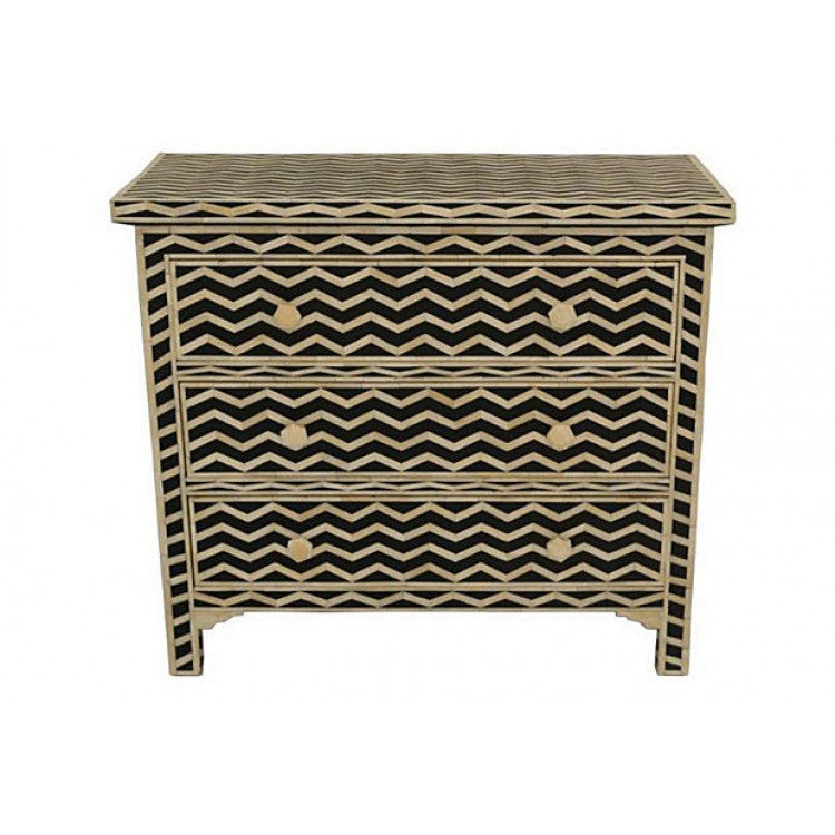 Black Bone Inlay Chest of Drawer Sideboard dresser