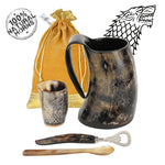 Game of Thrones Inspired Stark Drinking Horn Mug with Shot Glass
