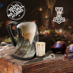 Game of Thrones Inspired Thor Hammer Drinking Horn Mug with Shot Glass