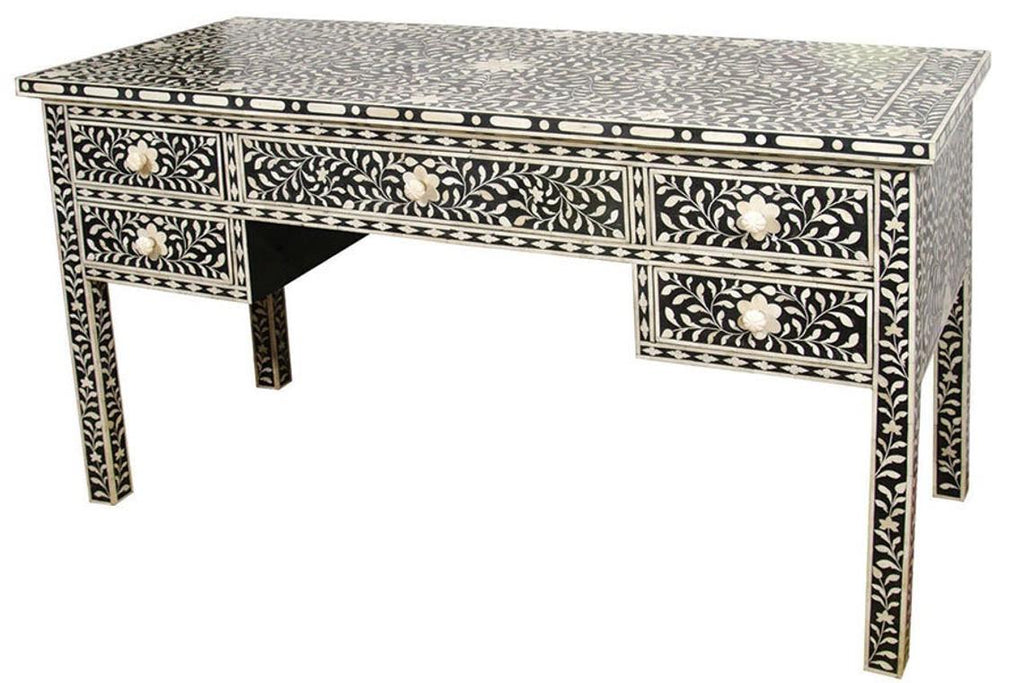 Bone inlay Table Desk,Black bone inlay table,bone inlay Bench,living room furniture