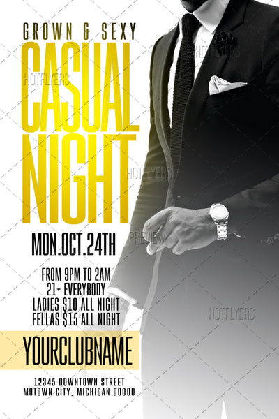 Casual Night Flyer Flyer