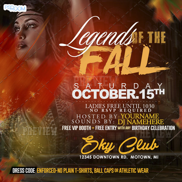 Legends Of The Fall Flyer