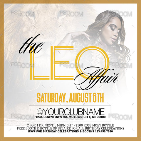 The Leo Affair Flyer