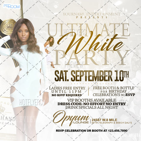 Ultimate White Party Flyer