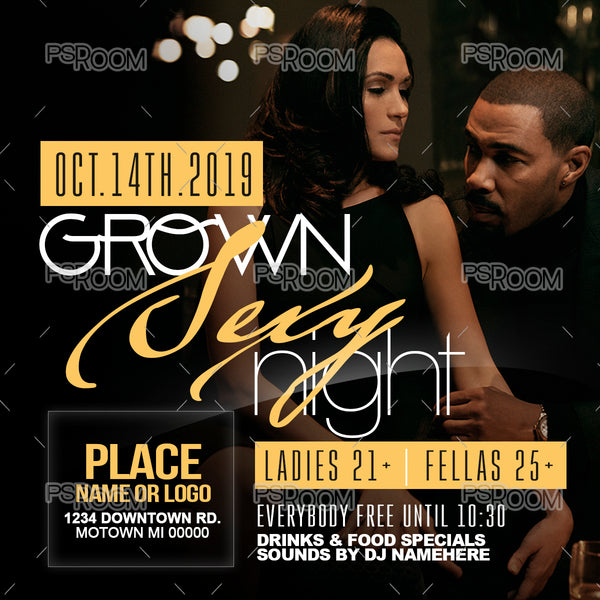 Grown Sexy Night Flyer