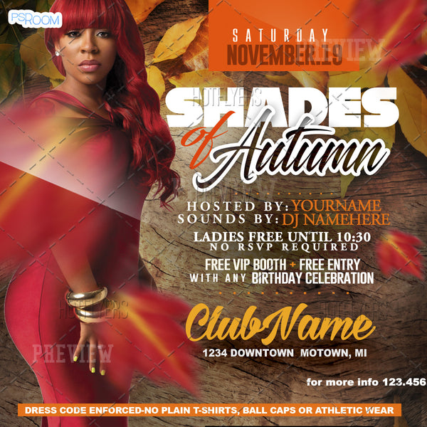 Shades of Autumn Flyer