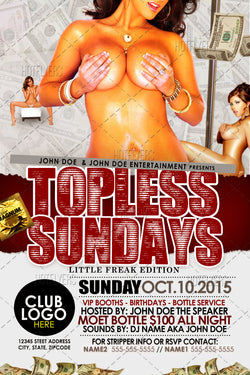 Topless Sundays Flyer