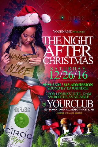 The Night After Christmas Flyer