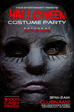 Products Tagged Halloween Flyers PSD Room - Halloween costume party flyer