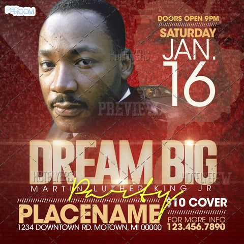 Dream Big MLK Party Flyer