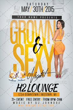 Grown & Sexy Night Flyer
