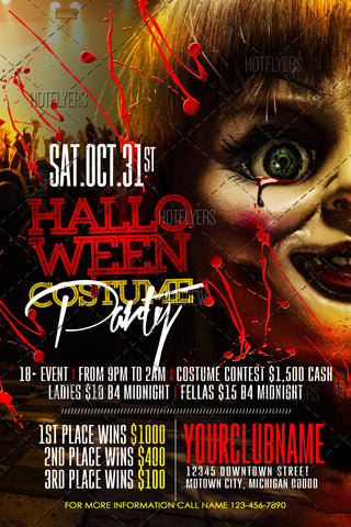 Halloween Costume Party Flyer  Psd Room