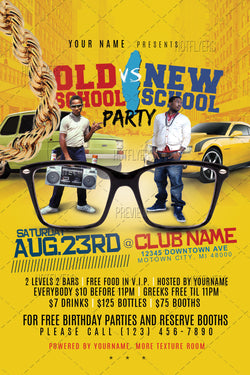 Old School Vs. New School Flyer