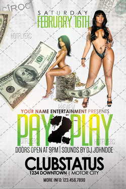 Pay 2 Play Flyer