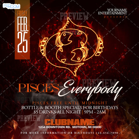 Pisces Vs. Everybody Flyer
