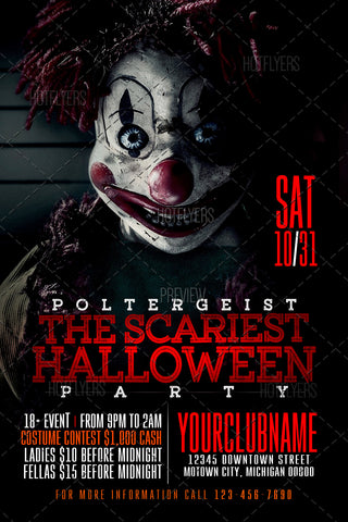Poltergeist Halloween Party Flyer  Psd Room