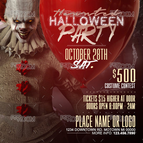 Haunted Halloween Party Flyer