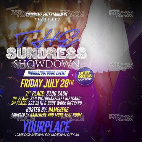 Sundress Showdown Flyer