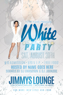 white party flyers