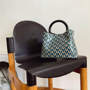 "Miller 9"" Patent Printed Turquoise"