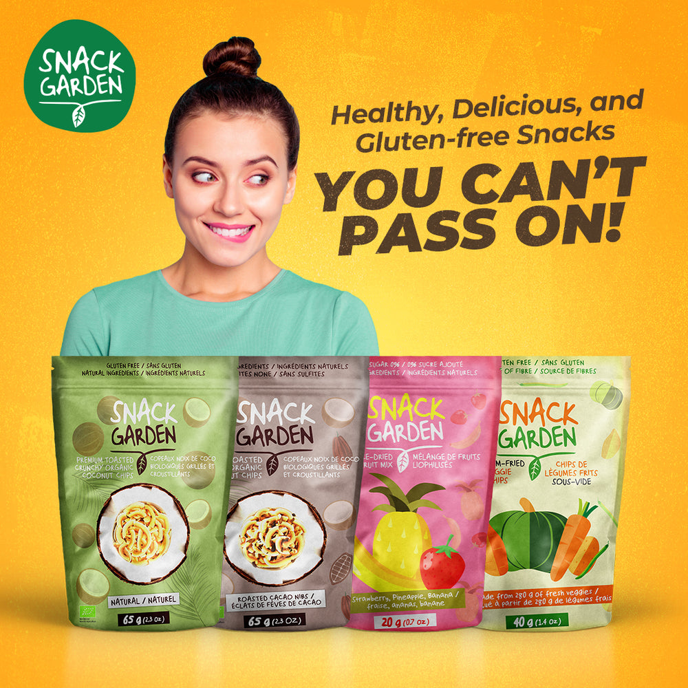 Delicious gluten-free, vegan and all natural snacks that come in a variety of tastes and colours.