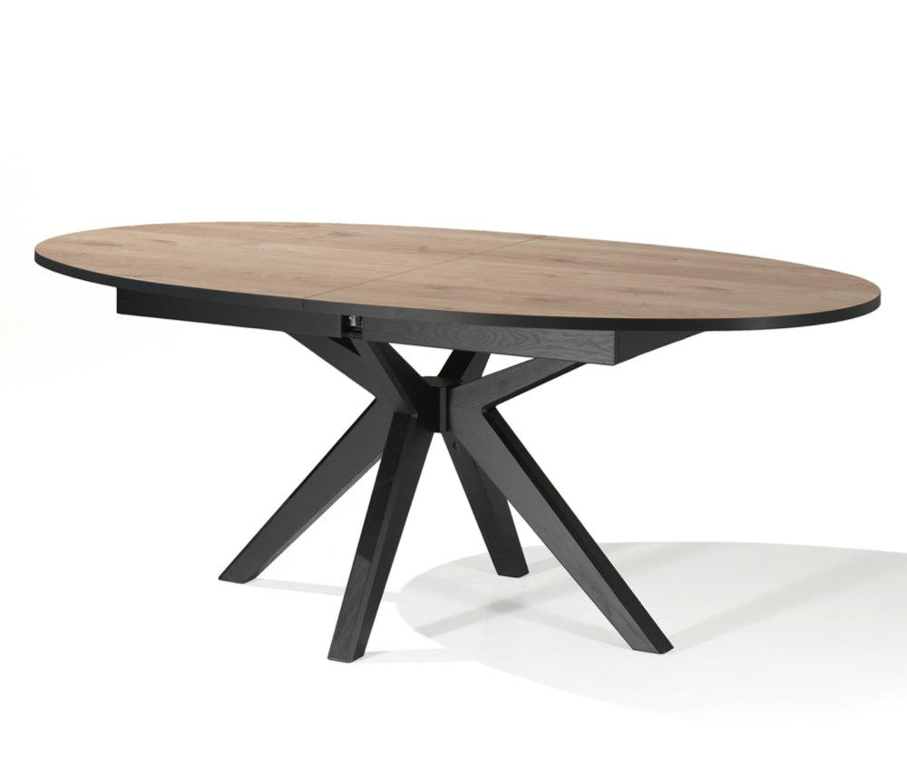 Elvira, table extensible ovale