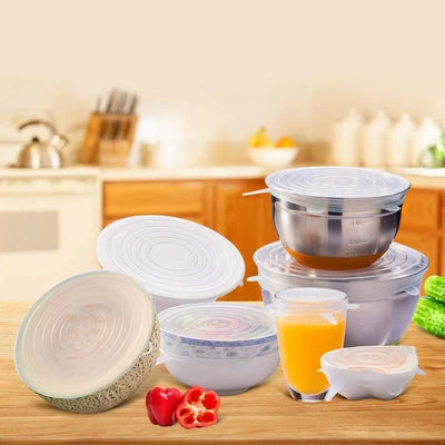 Reusable Food Silicone Packaging Lids (combo 6pcs)