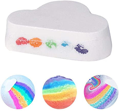 Natural Rainbow Cloud Bath Bomb (combo 2pcs)