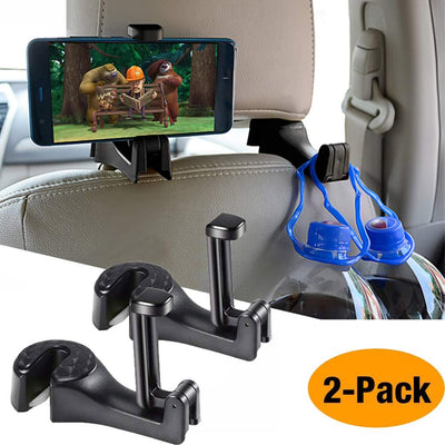 Car Seat Rear Hook with Mobile Phone Holder (2pcs)