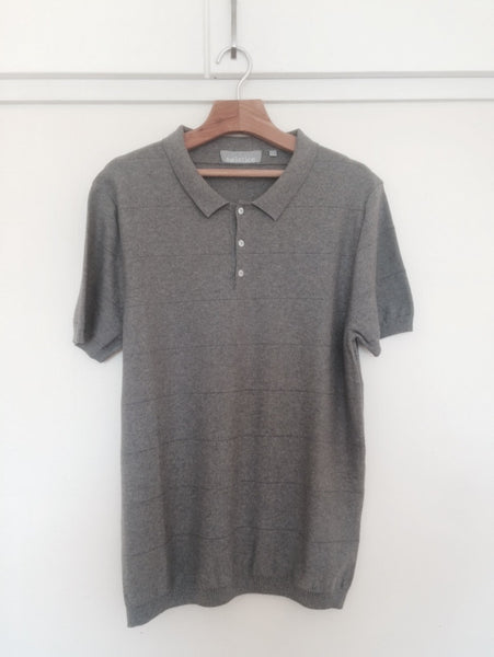 Knitted Polo. Grey.