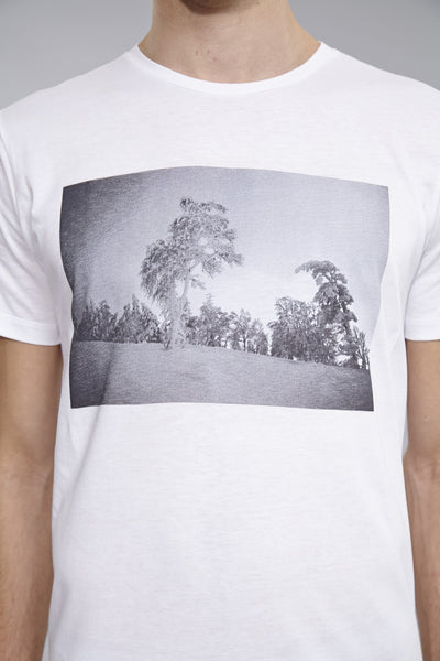 Co-Lab t-shirt Yves Suter. Tree under the snow. Limited edition of 50.