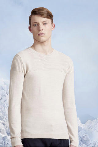 Ribbed Knitwear. Merino Wool. Creme.