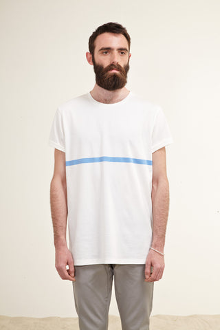 T-shirt. One Marine Stripe. Blue.
