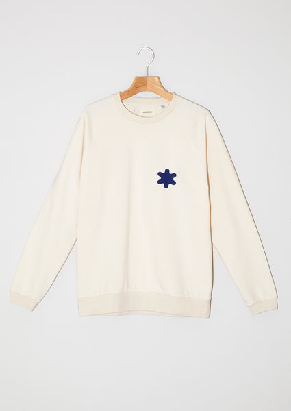 Sweatshirt. Winter Solstice Limited Edition. Sapin blue snowflake.