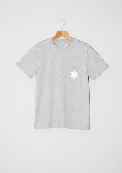 T-shirt Pocket Snowflake. Grey.