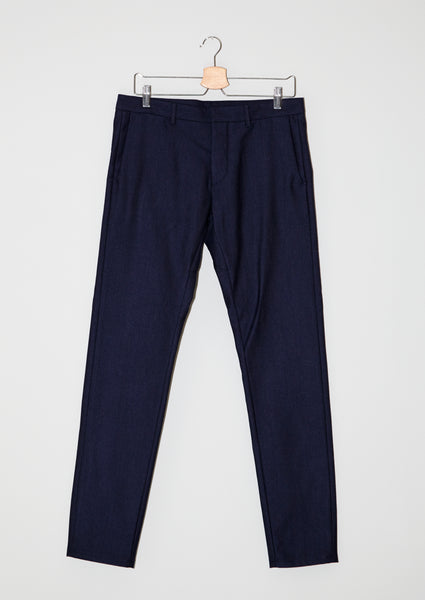 50/50 Winter Chinos. Cotton & wool. Dark Blue.
