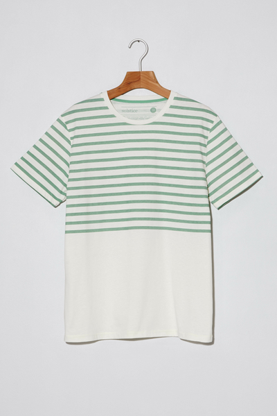 T-shirt. Tropical Stripes. Green.