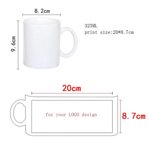 Mug Dimensions And Required Image Dimensions