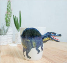 Load image into Gallery viewer, CFen A's Ceramic Mug 3D Dinosaur Shape Hand Painted Animals Mug Ceramic Coffee Cup Milk Tea Mug ,Birthday Gifts